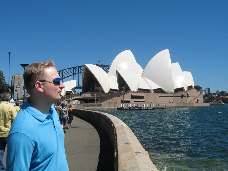 Tobsen und das Sydney Opera House.