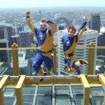 Skytower-Jump-Session oder wie mach ich mich in hunderten Meter Höhe zum Deppen.