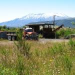 Mount Ruapehu, (2.hoechster Berg von NZ, ~2800 Meter, Nachbar von Mt. Ngauruhoe)
