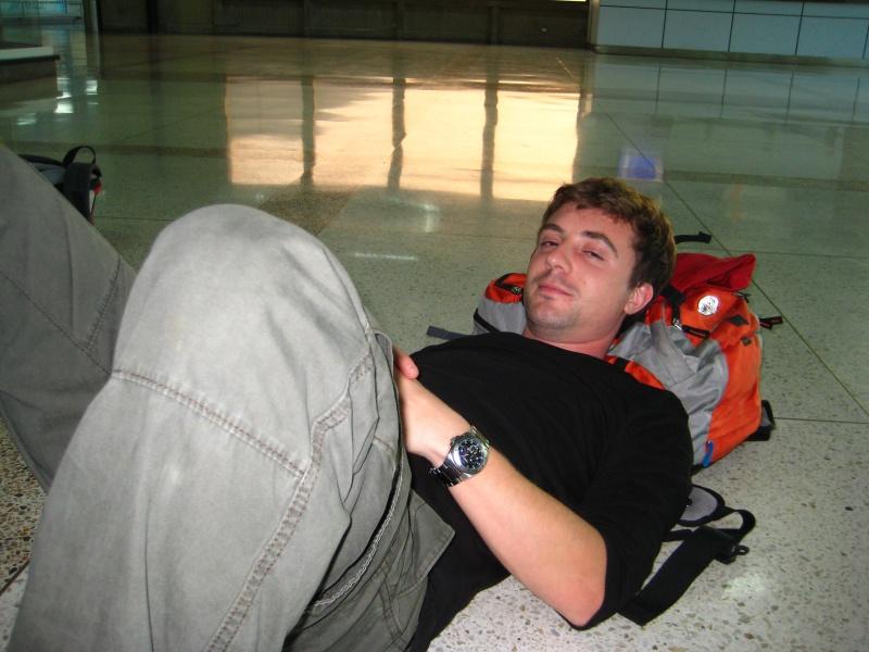 Airport-Romantik (gut das dies ein Foto vom Beginn des Urlaubs ist...)