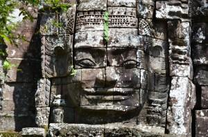 Ta Som: Gopura mit Bildnis des Lokeshvara