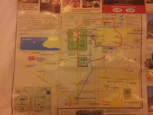 Angkor Wat Touristenkarte.
